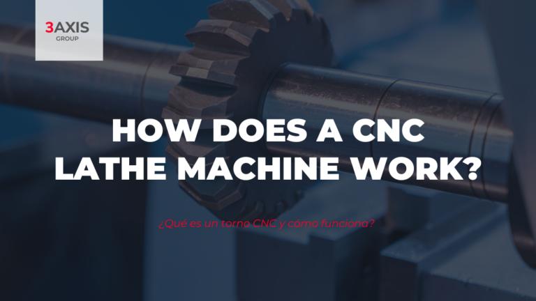 How does a CNC lathe machine work